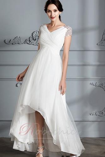 Robe de mariée Perle noble Asymétrique Plage Tulle Fourreau plissé - Page 4