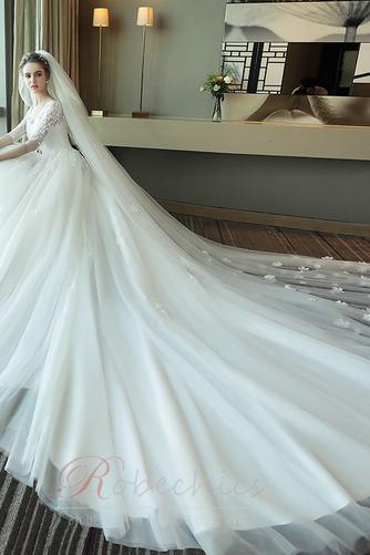 Robe de mariée Lacez vers le haut Manche de T-shirt Elégant Tulle - Page 4
