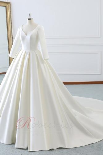 Robe de mariée Naturel taille Norme Plage Au Drapée Longue Automne - Page 3