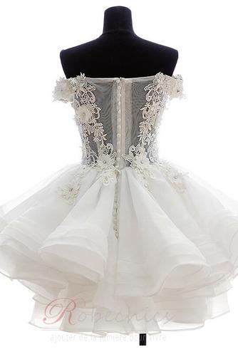 Robe de mariée Zip Bouton Épaule Dégagée Été De plein air Courte - Page 2