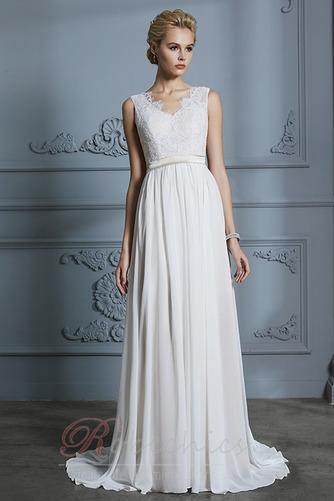Robe de mariée Sans Manches Sommaire Bouton Manquant Couvert de Dentelle - Page 3