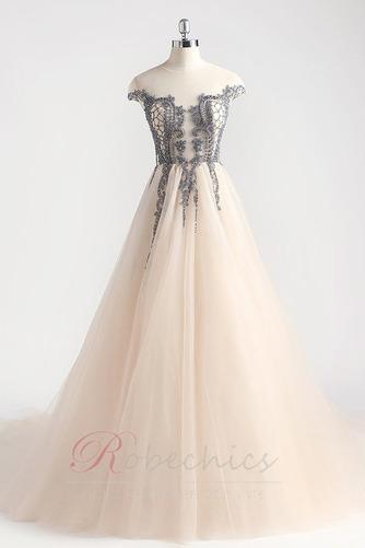 Robe de Bal Traîne Courte Zip Luxueux Norme a ligne Cristal - Page 6