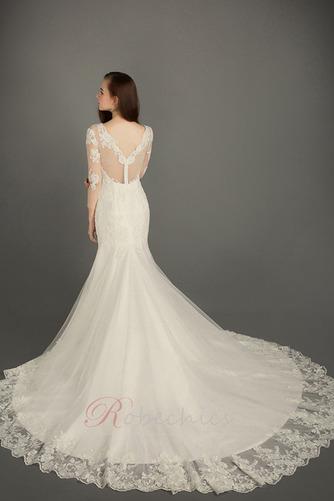Robe de mariée Zip A-ligne Tulle Salle Naturel taille Formelle - Page 2