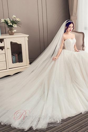 Robe de mariée Bustier A-ligne Automne Chaussez Traîne Moyenne - Page 4