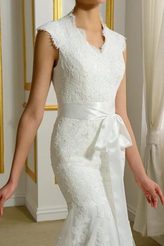 Robe de mariée Hiver Plage Poire Col en V Sans Manches Modeste - Page 4