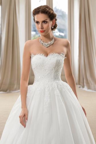 Robe de mariée Dos nu Formelle Longue Tissu Dentelle Sans Manches - Page 4