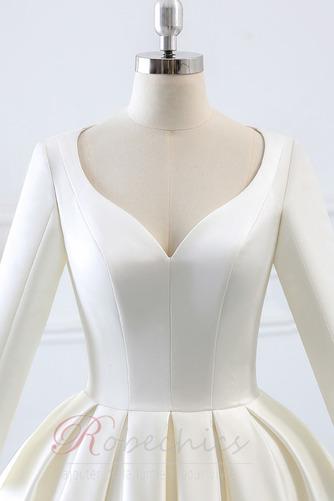 Robe de mariée Naturel taille Norme Plage Au Drapée Longue Automne - Page 5