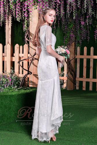 Robe de mariée Elégant Glissière Naturel taille Sirène Longueur Mollet - Page 2