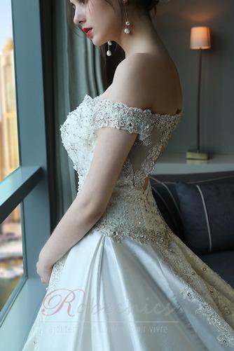 Robe de mariée Trou De Serrure Traîne Royal Naturel taille Couvert de Dentelle - Page 4