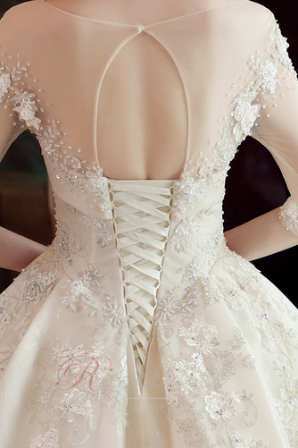 Robe de mariée Formelle A-ligne 3/4 Manche Froid Manche Aérienne - Page 6
