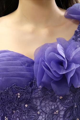 Robe de Bal Ample & Ornée A-ligne Lacet Sans Manches Une épaule - Page 4