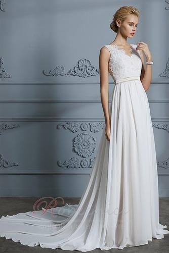 Robe de mariée Sans Manches Sommaire Bouton Manquant Couvert de Dentelle - Page 1