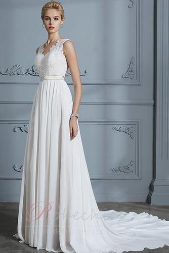 Robe de mariée Sans Manches Sommaire Bouton Manquant Couvert de Dentelle - Page 5