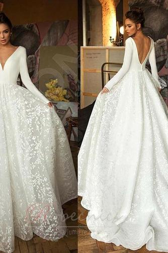 Robe de mariée Manche Longue Soie Couvert de Dentelle aligne Naturel taille - Page 4