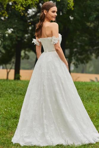 Robe de mariée Dos nu Train de balayage De plein air Elégant Tissu Dentelle - Page 3