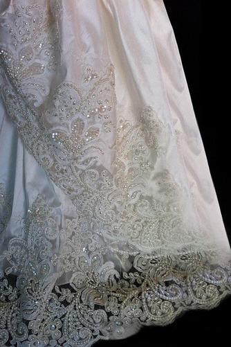 Robe de baptême Perlé Princesse Orné de Nœud à Boucle Manche Courte - Page 3