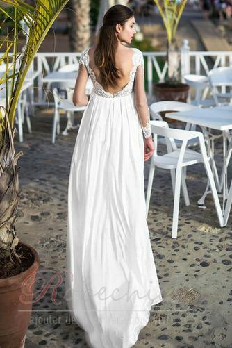 Robe de mariée Dos nu Appliques Longueur ras du Sol De plein air Manche Aérienne - Page 2