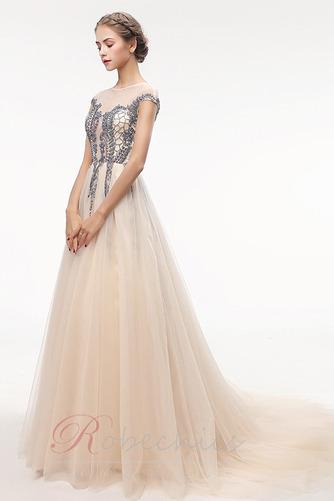 Robe de Bal Traîne Courte Zip Luxueux Norme a ligne Cristal - Page 3