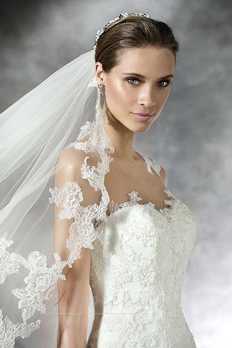 Robe de mariée Traîne Courte Gazer Sans Manches vogue Printemps - Page 3