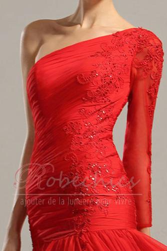 Robe de Soirée Longue Au Drapée Manquant Épaule Asymétrique Mode - Page 4
