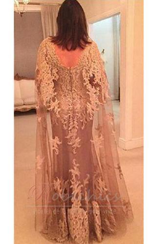 Robe Mère de Mariée A-ligne Tulle Sans Manches À la masse Printemps Chic - Page 3