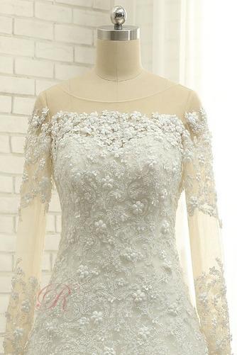Robe de mariée Longueur ras du Sol A-ligne Lacet Manche Aérienne - Page 5