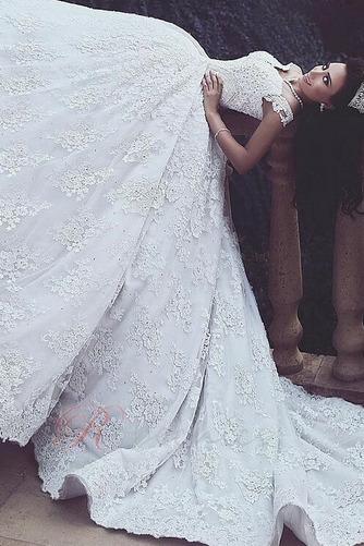 Robe de mariée Broderie Norme Col en V Foncé Zip Naturel taille - Page 2