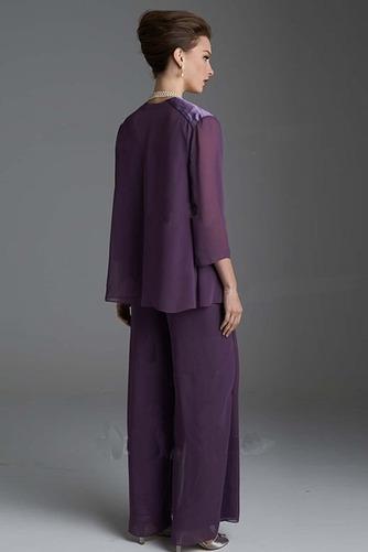 Robe de mère pantalon de costume Automne Manche de T-shirt Epurée - Page 3