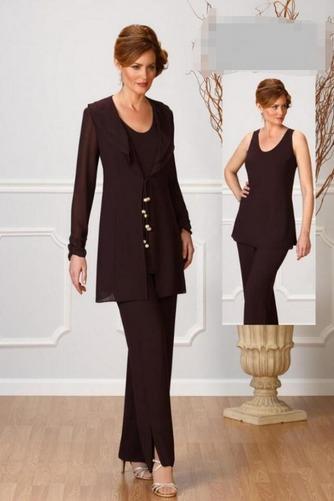 Robe de mère pantalon de costume Rectangulaire Luxueux Ruches - Page 1
