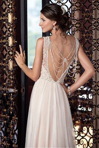 Robe de mariée Maigre Elégant Perle Longueur ras du Sol Naturel taille - Page 3