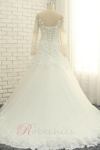 Robe de mariée Longueur ras du Sol A-ligne Lacet Manche Aérienne - Page 2