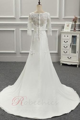 Robe de mariée Appliquer Couvert de Dentelle Longue Naturel taille - Page 3