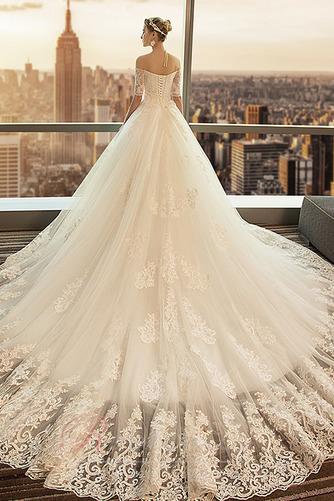 Robe de mariée Cathédrale a ligne Manche Courte Formelle Manquant - Page 2