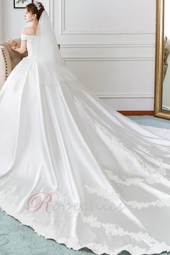 Robe de mariée Cathédrale Épaule Dégagée Broderie Lacet Cérémonial - Page 2