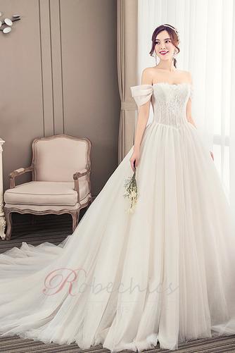 Robe de mariée Été Manche Courte Salle Manquant Mancheron A-ligne - Page 3
