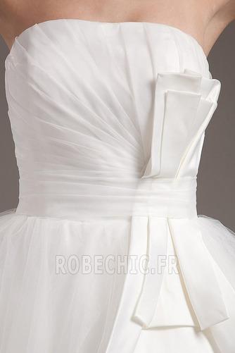 Robe de mariée semi-halter Été Couvert de Tulle Exquisite Nœud à Boucles - Page 8