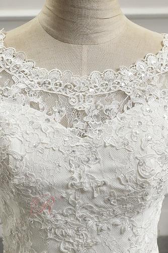 Robe de mariée Appliquer Couvert de Dentelle Longue Naturel taille - Page 4