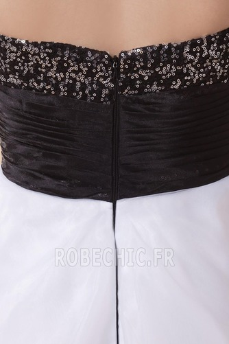 Robe de Soirée Fourreau Pailleté Sans Manches Blanche Organza - Page 8