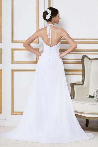Robe de mariée Longue Col en V Elégant Automne Sans Manches Zip - Page 3