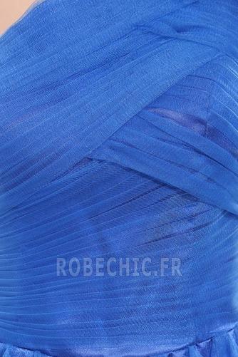 Robe de Soirée Tulle Zip Sans Manches Courte Fantaisie Ruchés Plongeants - Page 6