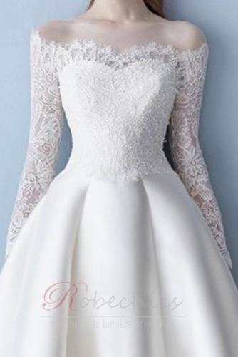 Robe de mariée Naturel taille Longue Manche Aérienne Tissu Dentelle - Page 4