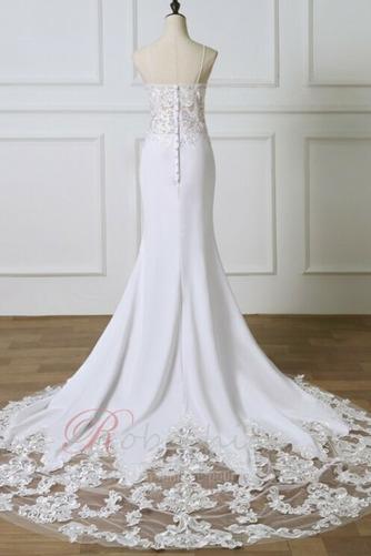 Robe de mariée Sirène Fermeture éclair Couvert de Dentelle Bretelles Spaghetti - Page 3