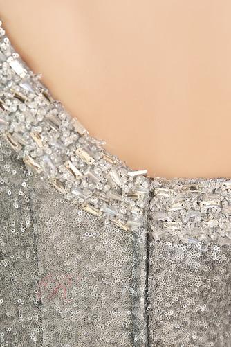 Robe de Soirée Naturel taille Manche Asymétrique Perle Epurée - Page 4