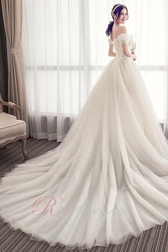 Robe de mariée Été Manche Courte Salle Manquant Mancheron A-ligne - Page 2