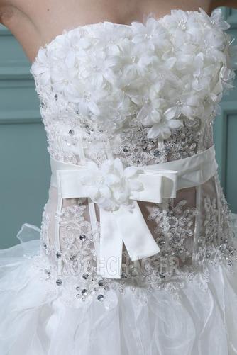 Robe de mariée Satin Élastique Taille chute Dramatique Asymétrique - Page 6