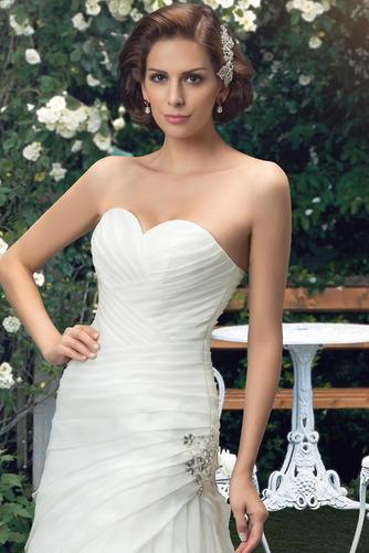 Robe de mariée Sommaire Rivage Sans Manches aligne col coeur Traîne Mi-longue - Page 4