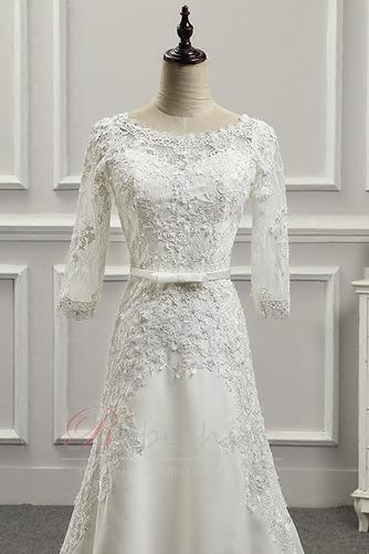 Robe de mariée Appliquer Couvert de Dentelle Longue Naturel taille - Page 5
