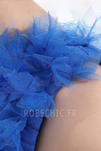 Robe de Soirée Tulle Zip Sans Manches Courte Fantaisie Ruchés Plongeants - Page 7