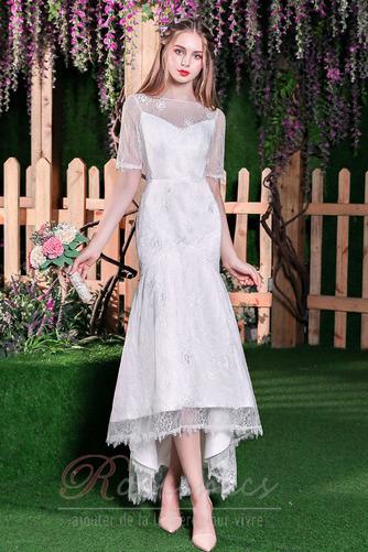 Robe de mariée Elégant Glissière Naturel taille Sirène Longueur Mollet - Page 1