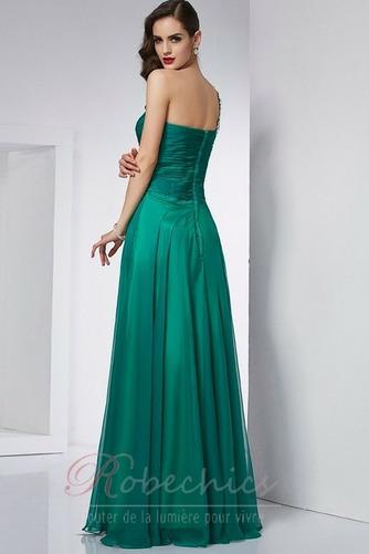 Robe de Bal Dos nu Sans Manches Chiffon Luxueux Perlé Manquant - Page 2